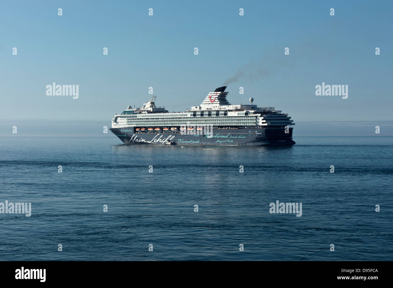 Mein Schiff 1 cruise ship German At Holyhead Anglesey North Wales Uk - Stock Image