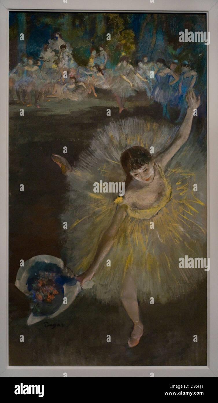 Edgar Degas Fin d'arabesque 1877 XIX th Century Orsay Museum - Paris oil and pastel on canvas Stock Photo