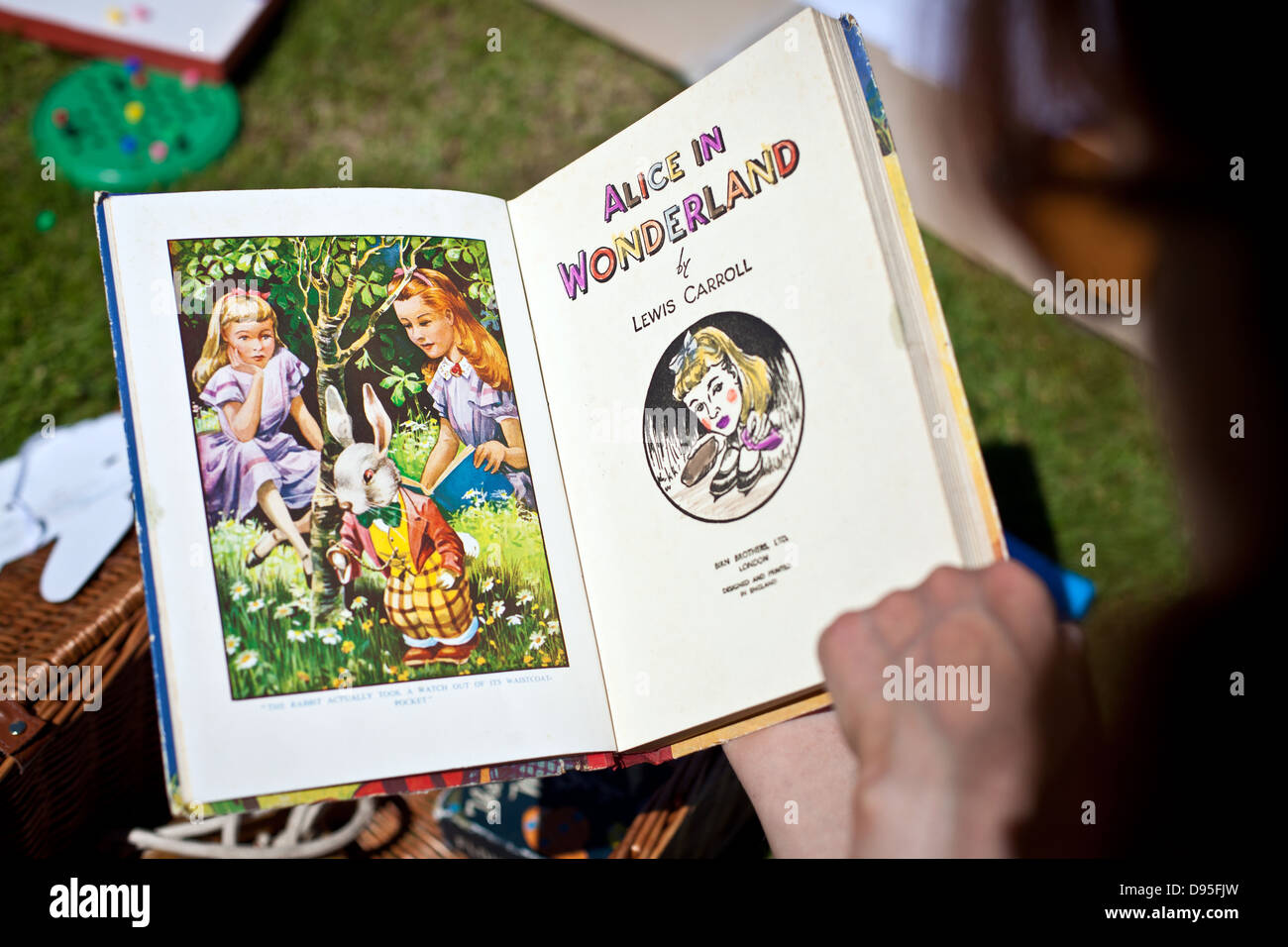 Old edition of Alice in Wonderland by Lewis Carroll - Stock Image