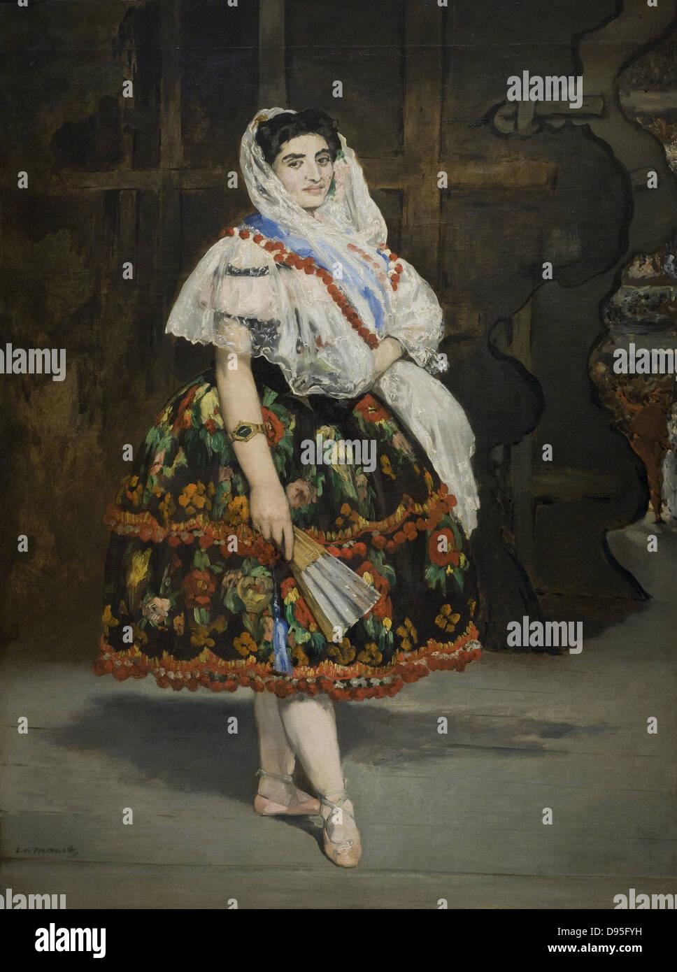 Edouard Manet Lola de Valence 1862 XIX th Century French school Orsay Museum - Paris - Stock Image