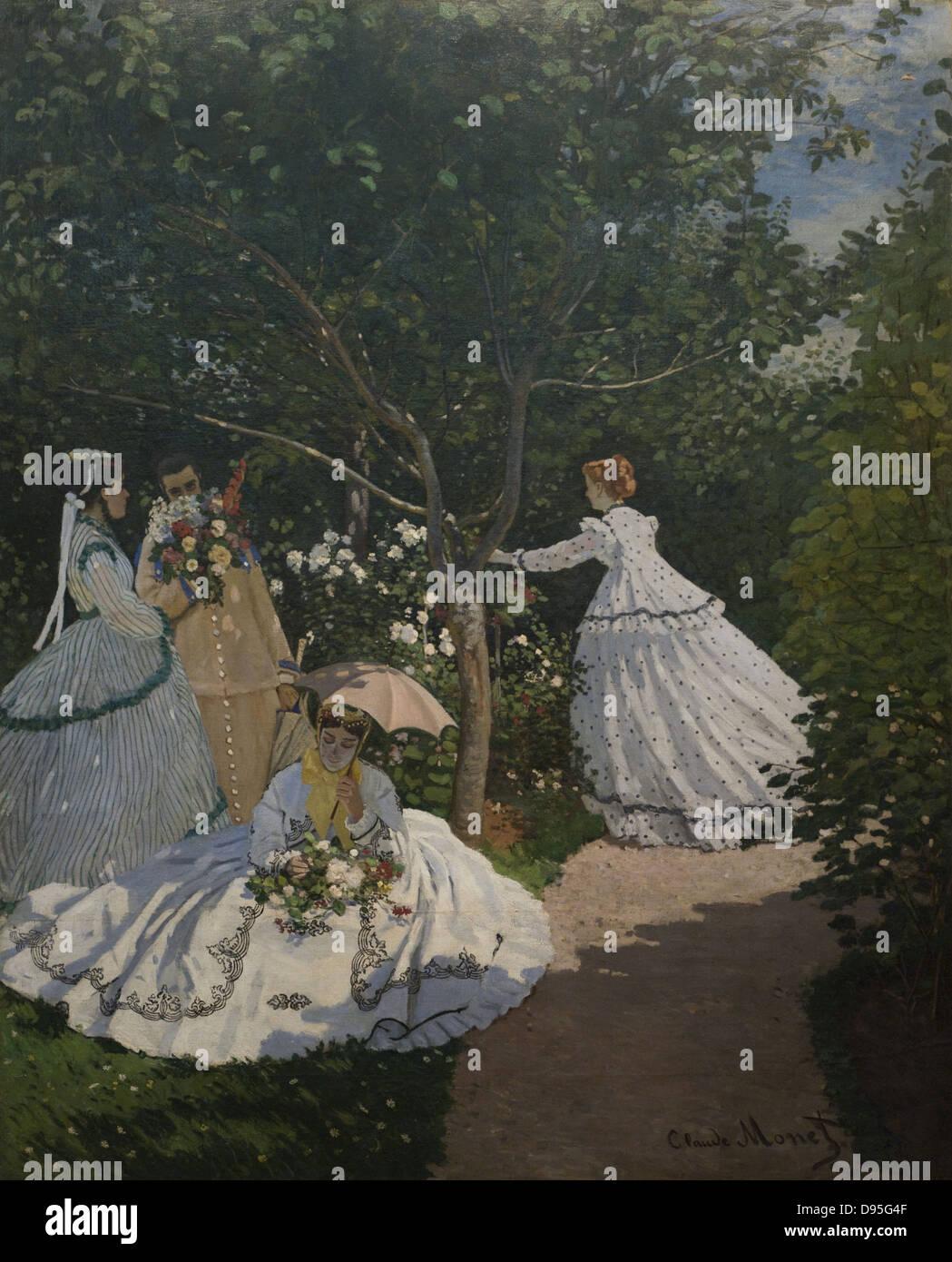 Claude Monet Femmes au jardin XIX th Century French school Orsay Stock Photo: 57285439 - Alamy