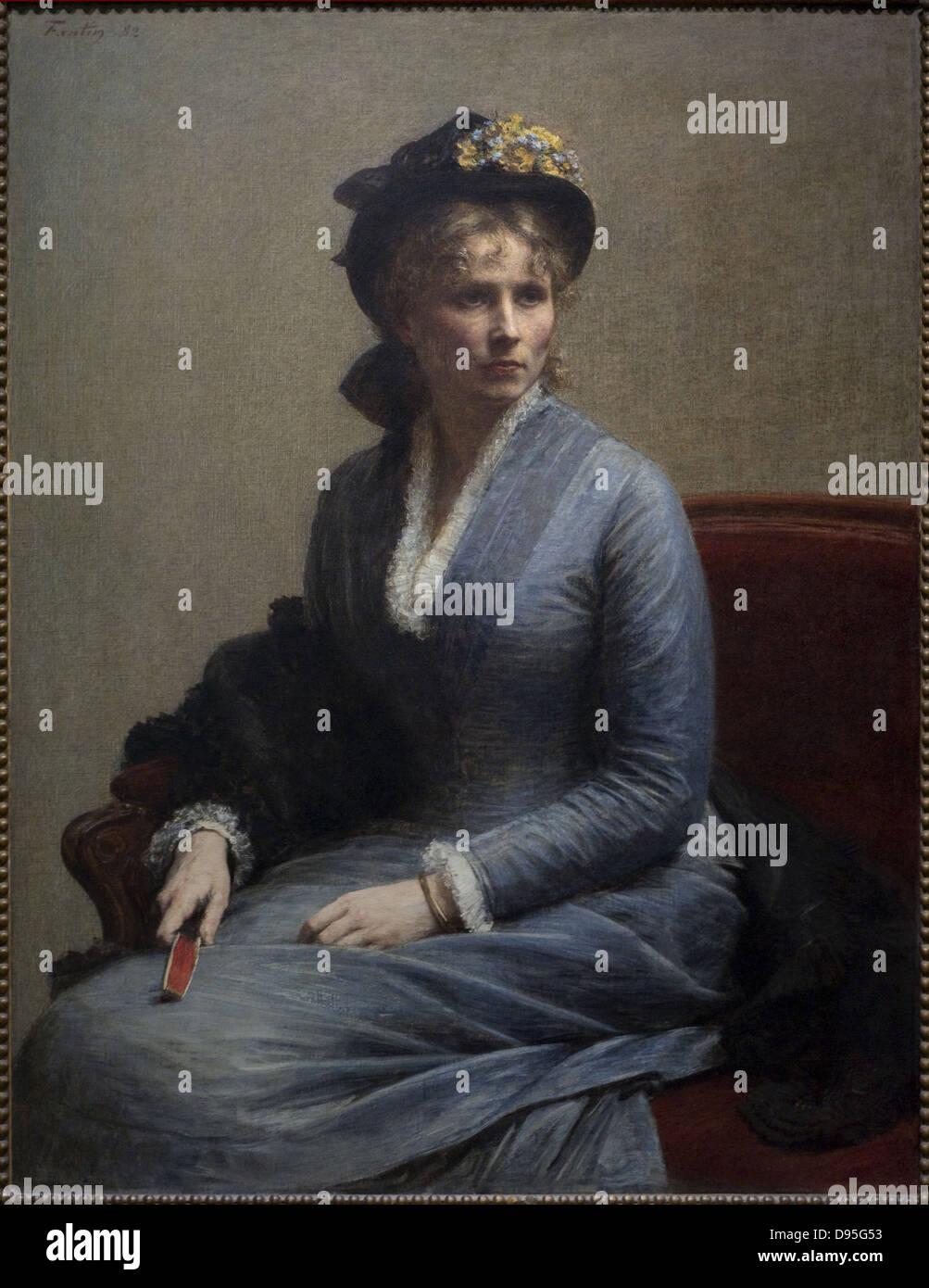 Henri Fantin-Latour Charlotte Dubourg 1882 XIX th Century French school Orsay Museum - Paris - Stock Image