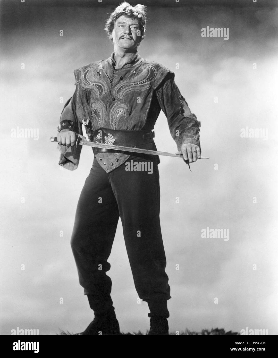 THE CONQUEROR  1956 RKO Radio Pictures film with John Wayne as Genghis Khan - Stock Image