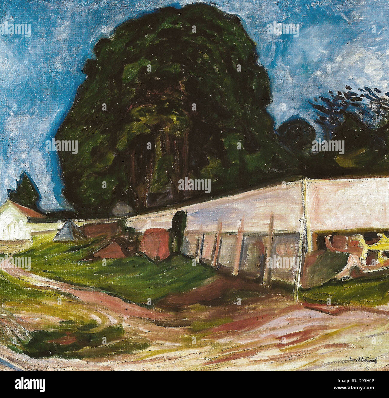 Edvard Munch Summer Night at Aasgaardstrand 1904 XIX th century Orsay Museum - France - Stock Image