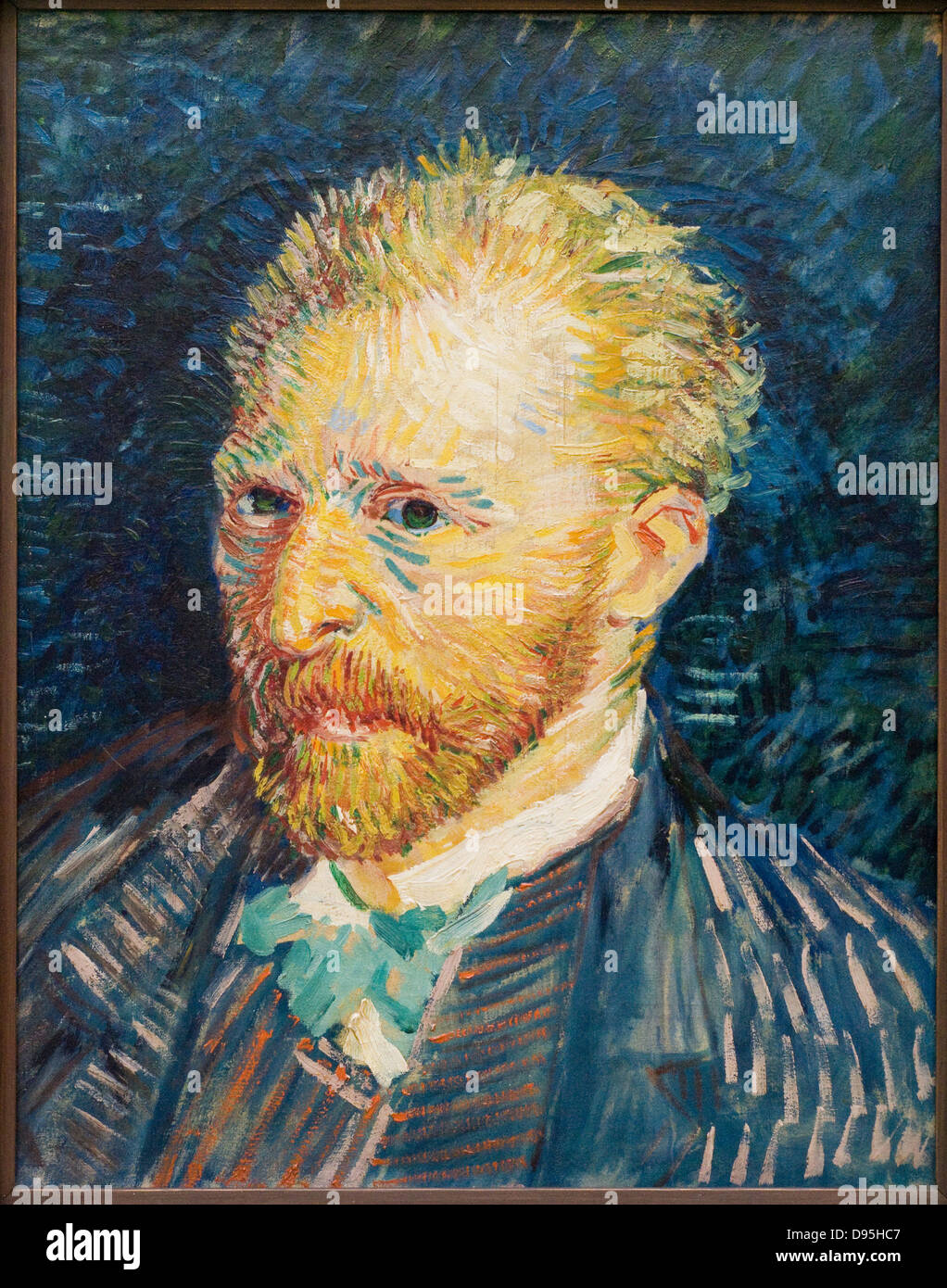 Vincent van Gogh selfportrait 1887 XIX th century Dutch school Oil on canvas Paris - Orsay Museum - Stock Image