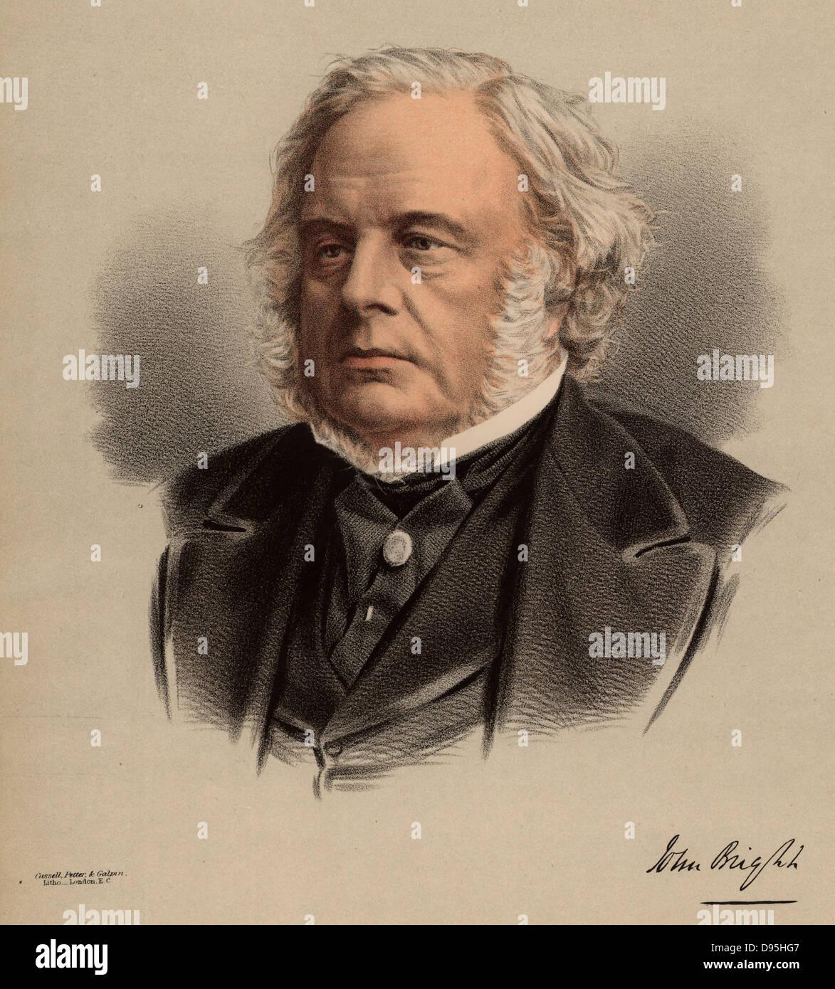John Bright (1811-1889) British radical statesman, born in Rochdale, Lancashire. Anti Corn Law League. Reform Act Stock Photo