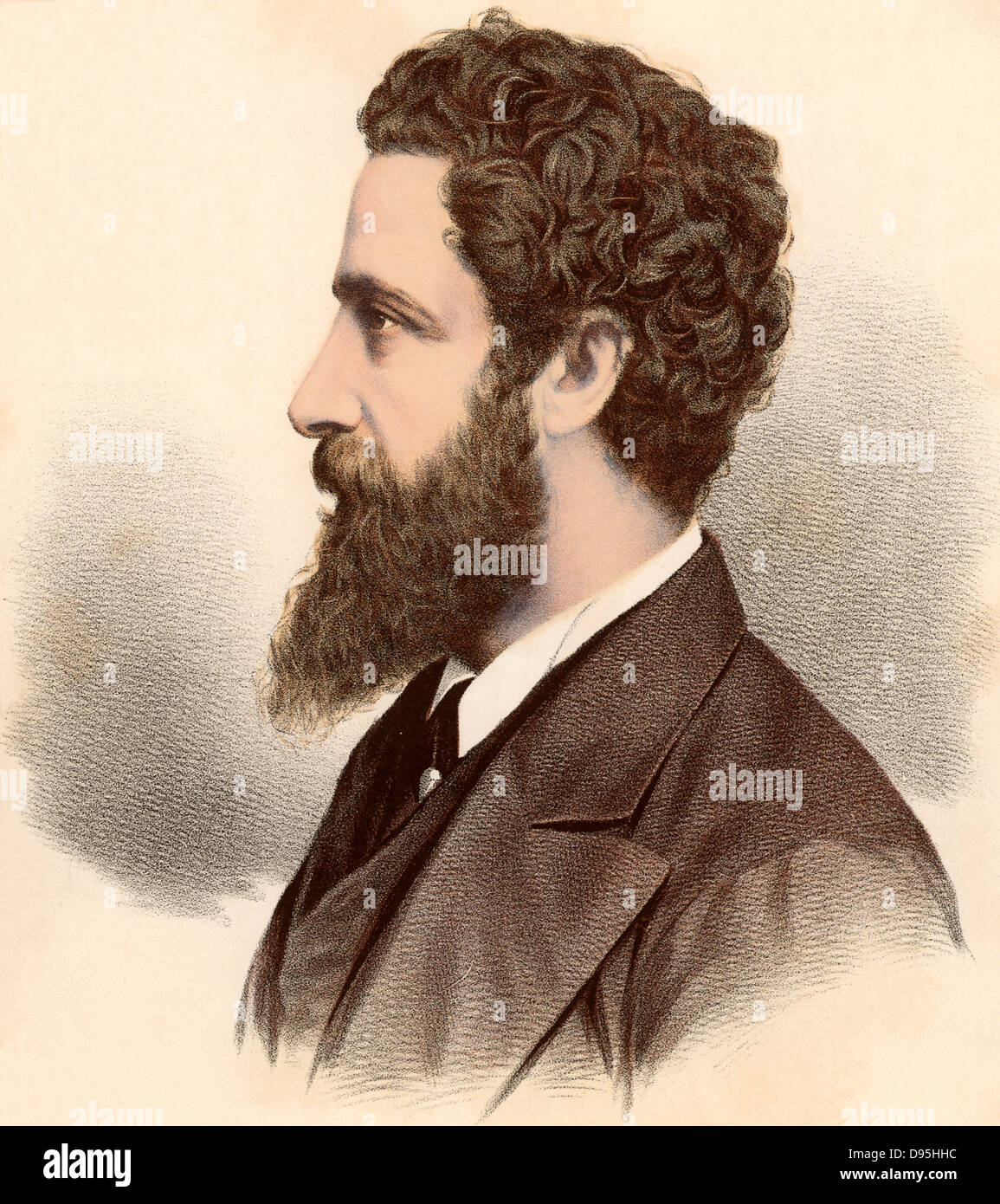 Edward Robert Bulwer Lytton, first Earl Lytton (1831-1891) British statesman, novelist and poet. Viceroy of India Stock Photo