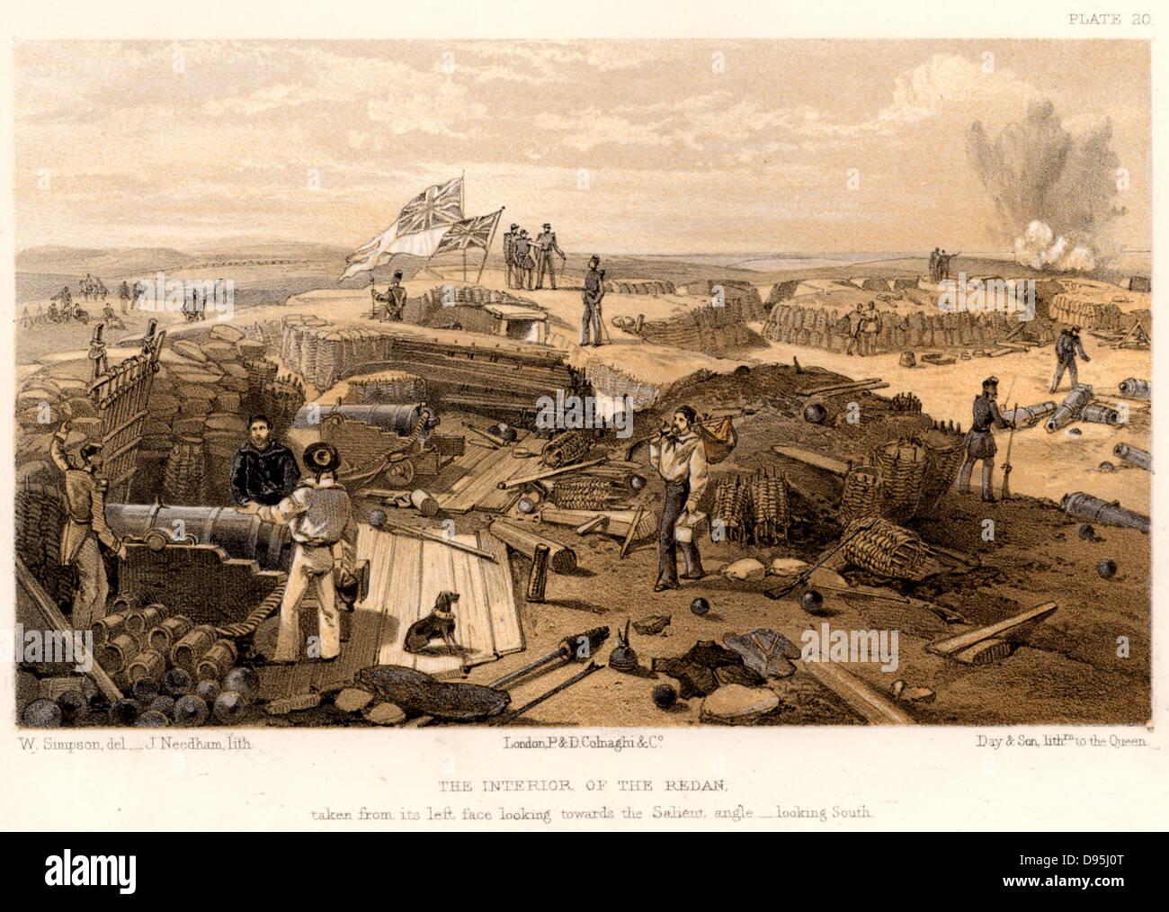 Crimean War (Russo-Turkish War) 1853-1856. Siege of Sebastopol, October 1854 to September 1855.  British troops - Stock Image