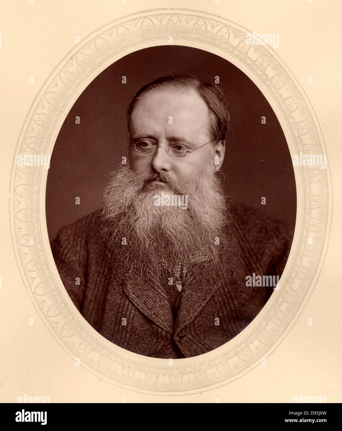(William) Wilkie Collins (1824-1889), English novelist. Author of sensation novels of mystery and suspense including - Stock Image