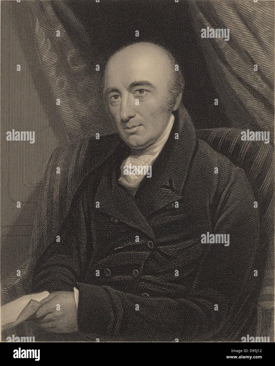 William Hyde Wollaston (1766-1828), English chemist, born at East Dereham, Norfolk, England.  Wollaston discovered - Stock Image