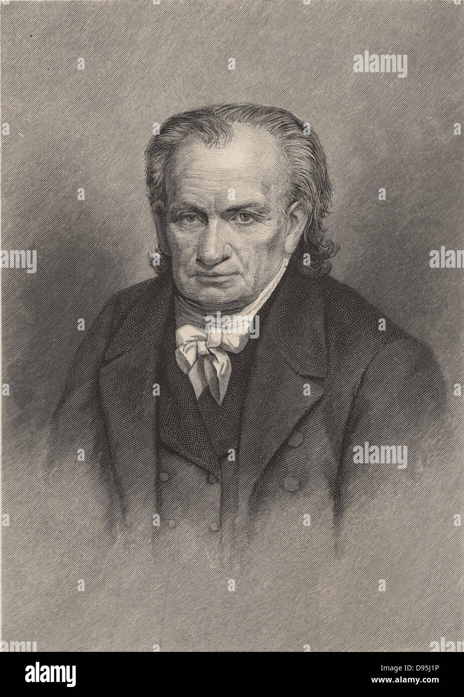 Amos Eaton (1776-1842) American botanist, geologist, lawyer and public lecturer.  Engraving, 1896.  Scientist - Stock Image