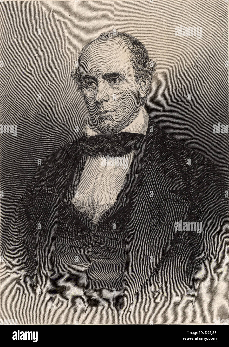Elisha Mitchell (1793-1857) American naturalist and explorer.  Professor of chemistry, mineralogy and geology at - Stock Image