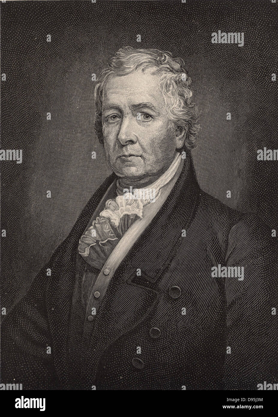 Samuel Latham Mitchill (1764-1831), American scientist, physician and politician.  In 1795 he described the anaesthetic - Stock Image