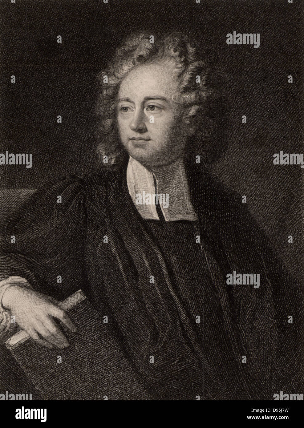 Richard Bentley (1662-142) English classical scholar and philologist. Master of Trinity College, Cambridge. Lampooned - Stock Image