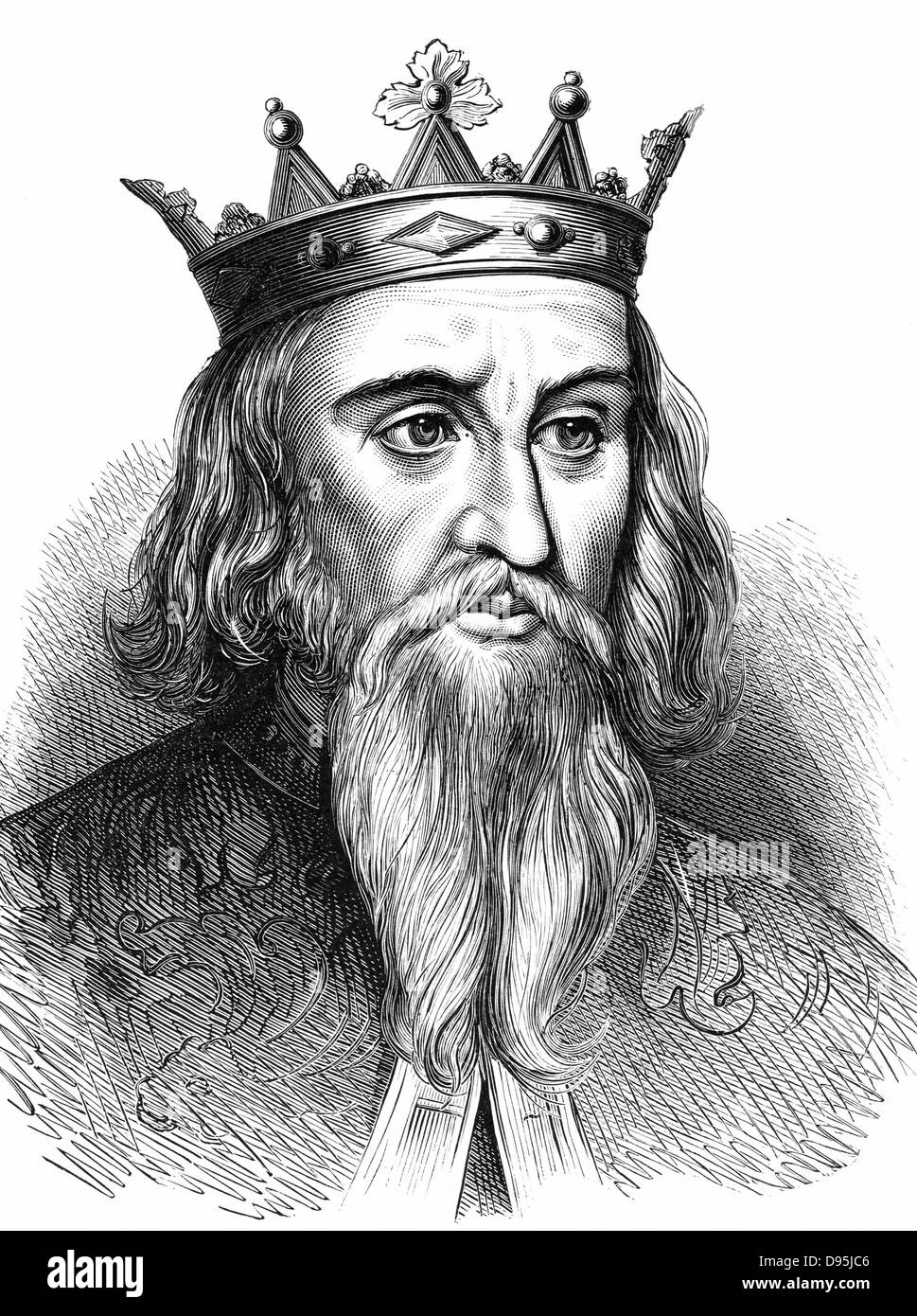 Henry I (1068-1135) king of England from 1100; youngest son of William I, the Conqueror. Wood engraving c1900 - Stock Image