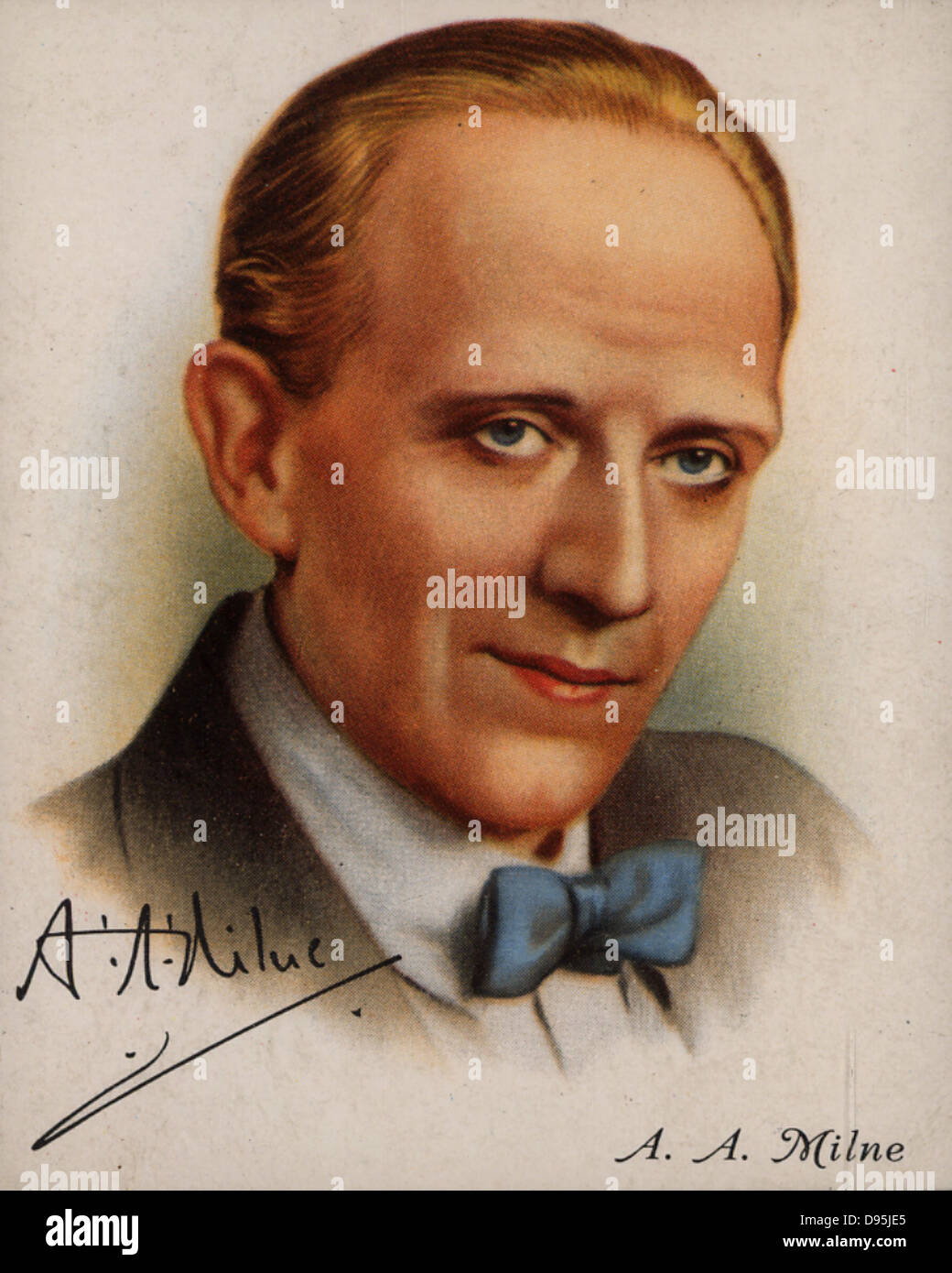 Alan Alexander (AA) Milne (1882-1956), English author best known for his creation of 'Winnie-the-Pooh' (1926). - Stock Image
