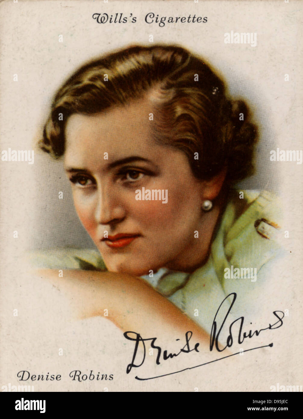Denise Robins (1897-1985) British popular novelist, dramatist and short story writer. From a series of cards of - Stock Image