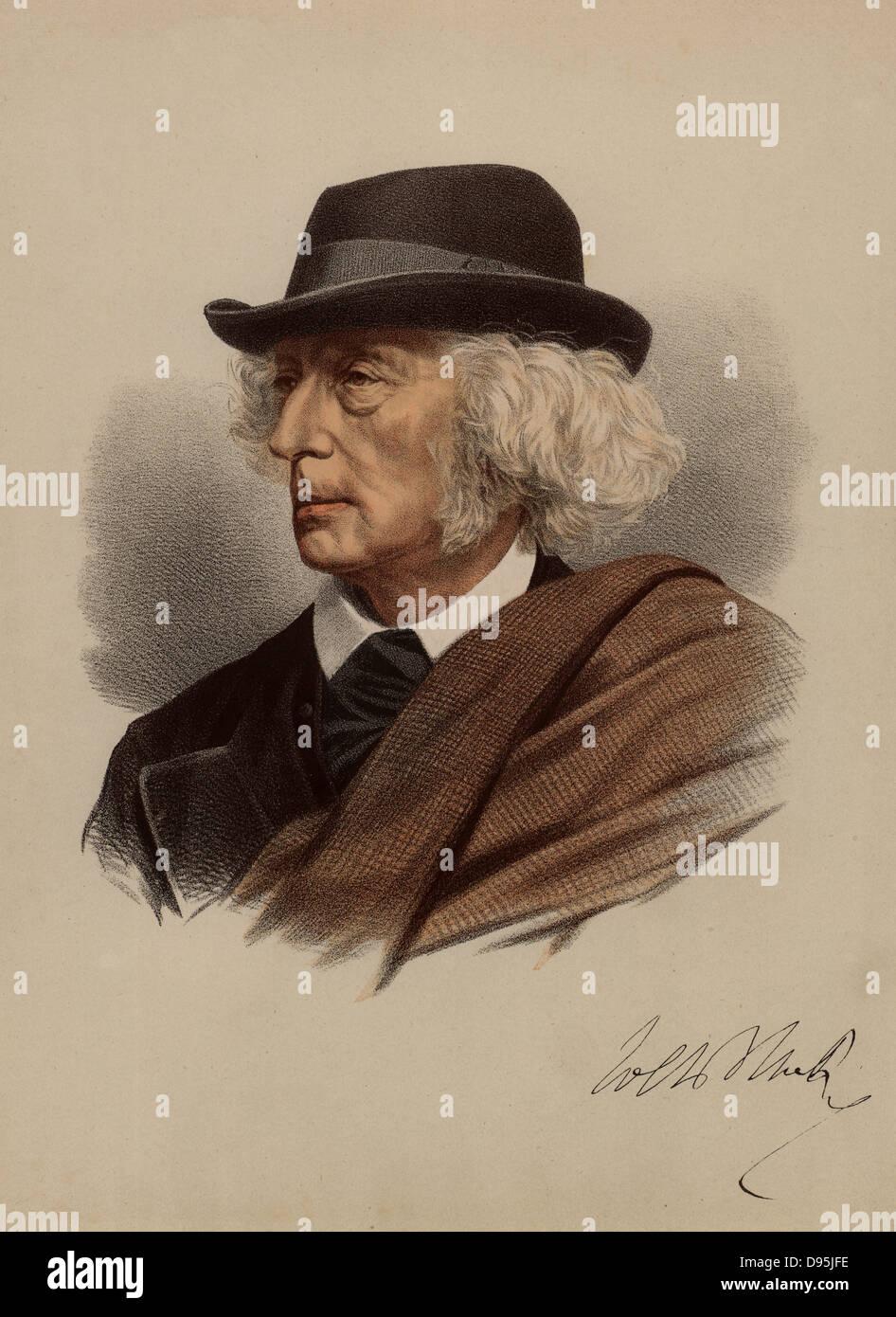 John Stuart Blackie (1809-1905) Scottish classicist and man of letters, born in Glasgow. Professor of Greek at Edinburgh - Stock Image