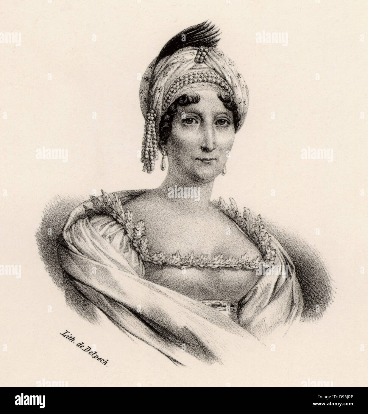 Marie Letizia Bonaparte (c1749-1836) Mother of the French emperor Napoleon I. In May 1804 she was given the official - Stock Image