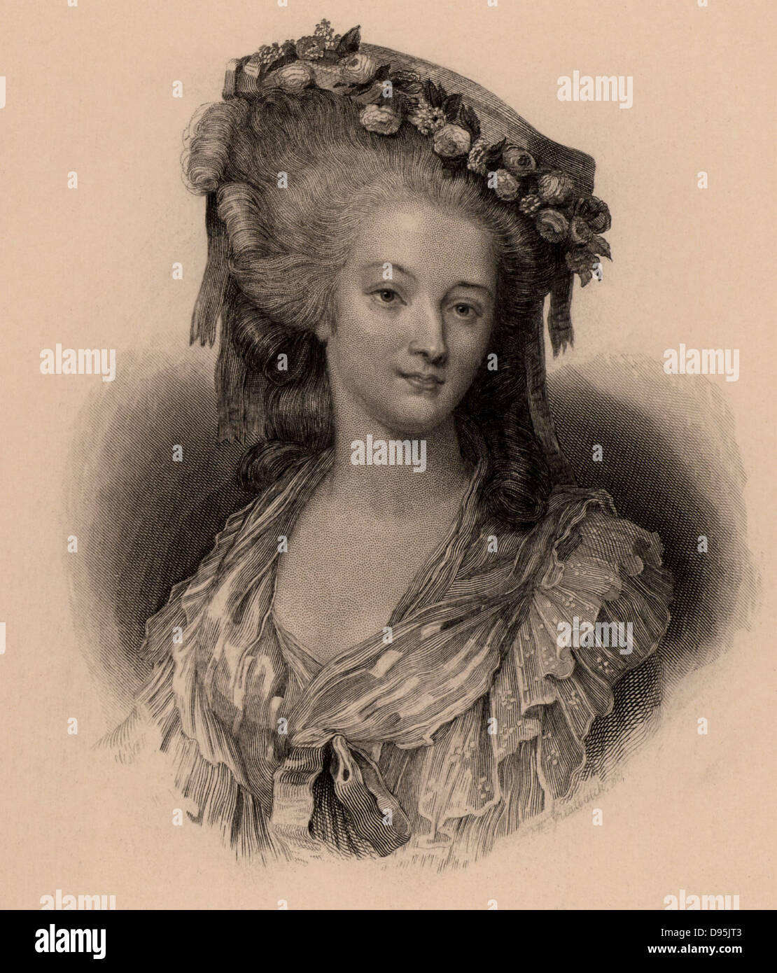 Marie Therese Louise, Princess de Lamballe (1749-92) French aristocrat married to Louis de Bourbon. A friend of - Stock Image