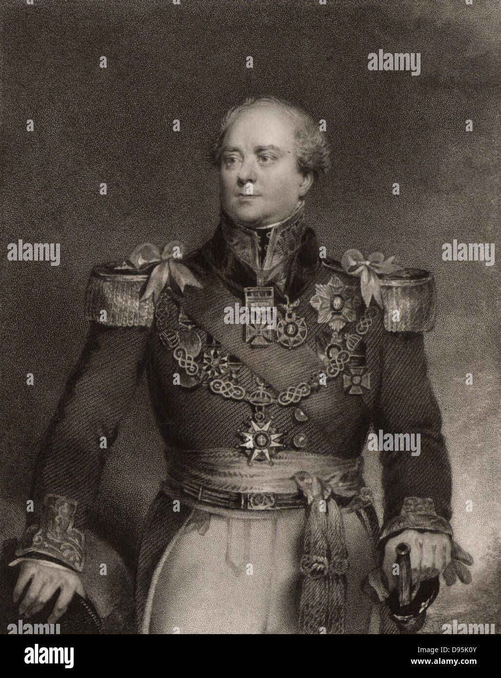 Archibald Campbell (1769-1843) British career soldier. Colonel 1814; Major-general 1825; Lieutenant-general 1838. Stock Photo