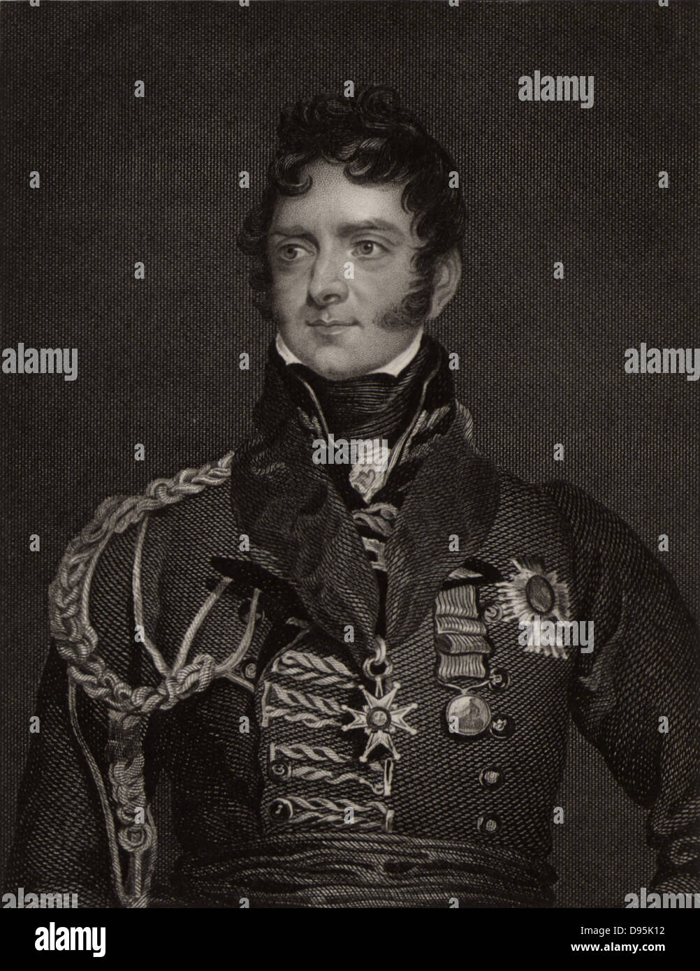 Henry Torrens (1779-1828) English soldier. Military secretary to General Wellesley (later Duke of Wellington) in - Stock Image