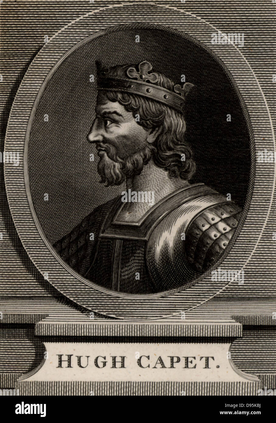 Hugh Capet (c938-996) elected king of France in 987 after the death of Louis V. Founder of Capetian dynasty which - Stock Image
