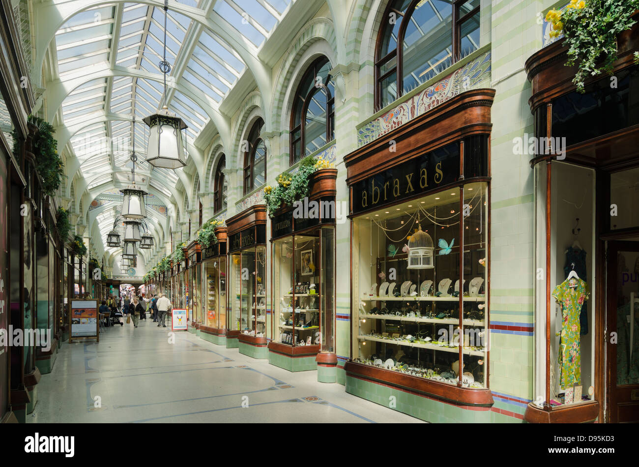 The Royal Arcade Norwich Norfolk UK Abraxas Jewelers - Stock Image