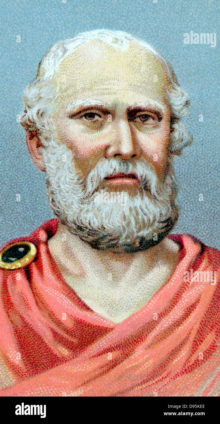 Plato (c428-c348 BC) Ancient Greek philosopher. Chromolithograph - Stock Image