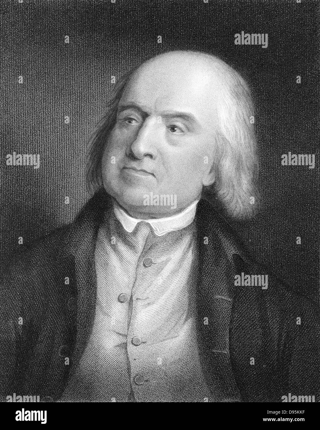 Jeremy Bentham (1748-1832) English social reformer and philosopher (Utilitarianism) A founder of University College, - Stock Image