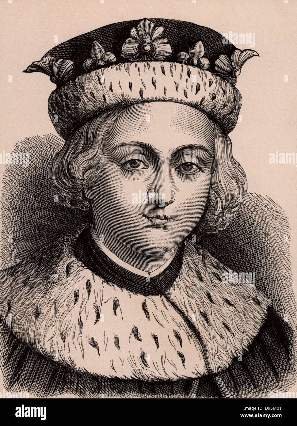 Edward V (1470-1483), king of England 1483. Son of Edward V and one of the  Princes in the Tower. With his younger brother he