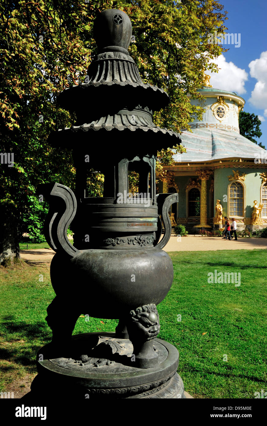 Chinese tea house, potsdam, germany, architecture, baroque, berlin, china, chinese, design, tea, germany - Stock Image