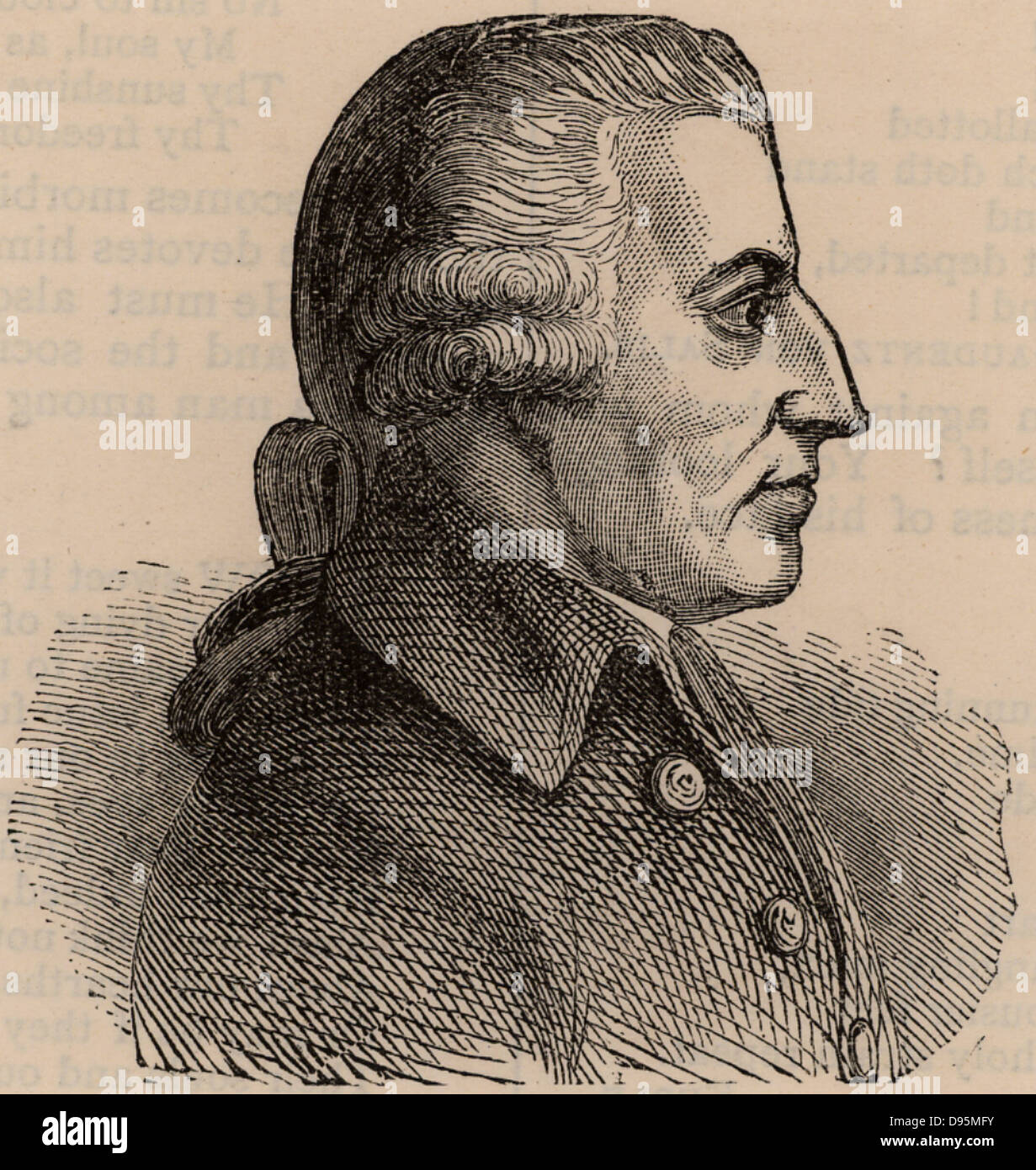 John Howard (1726-1790) English prison reformer.  Howard League for Penal Reform named for him. Woodcut. Stock Photo