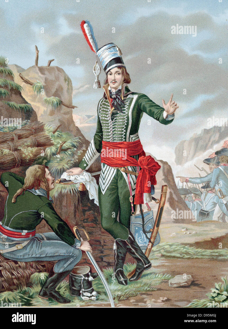 Francois Severin Marceau-Desgraviers (1769-1896) French revolutionary soldier; republican army of La Vendee; fought - Stock Image