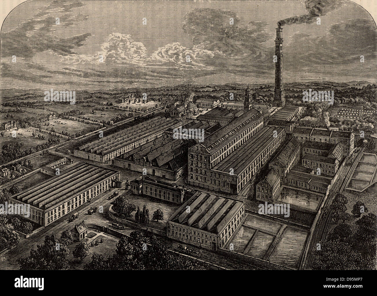 Camperdown Linen Works, Dundee, Angus, Scotland. Proprietors, Cox Brothers.  In spite of its name, this was a Jute - Stock Image