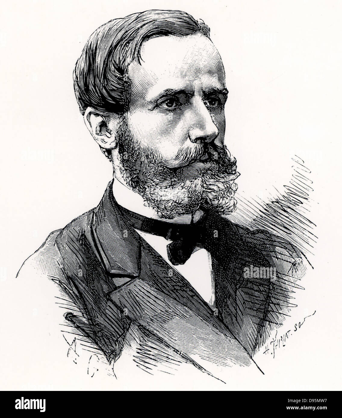 (Raymond) Gaston Plante (1834-1889) French physicist who in 1859 invented the first accumulator or electric storage - Stock Image