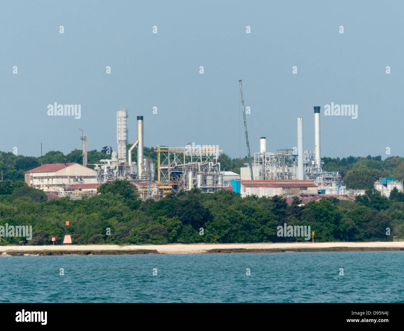 Polimeri Europa Ltd industrial chemical company on the edge of Southampton Water near Hythe - Stock Image
