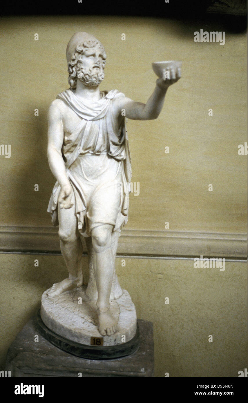 Odysseus (Ulysses) hero of Homer's epic poem 'The Odyssey'. Statue. - Stock Image