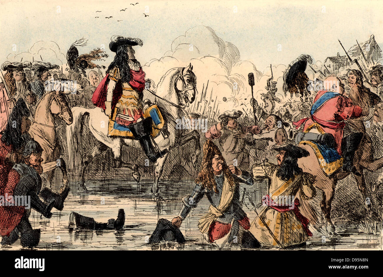 William III (1650-1702) King of Great Britain from 1689. The Protestant William at the Battle of the Boyne, Ireland Stock Photo