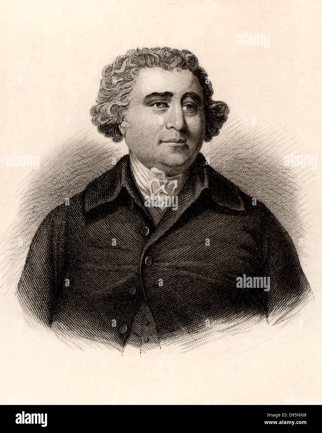 Charles James Fox (1749-1806) English Whig (Liberal) politician. Engraving. - Stock Image