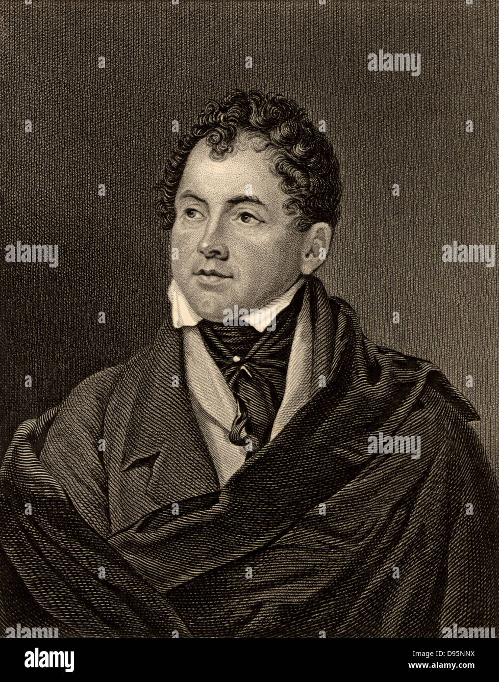 Thomas Moore (1779-1852) Irish-born poet and writer. Friend of Leigh Hunt, Lord John Russell and Lord Byron, whose - Stock Image