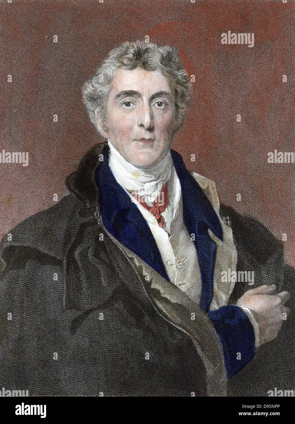 Arthur Wellesley 1st Duke of Wellington (1769-1852) British soldier and statesman. Defeated Napoleon at Waterloo. - Stock Image