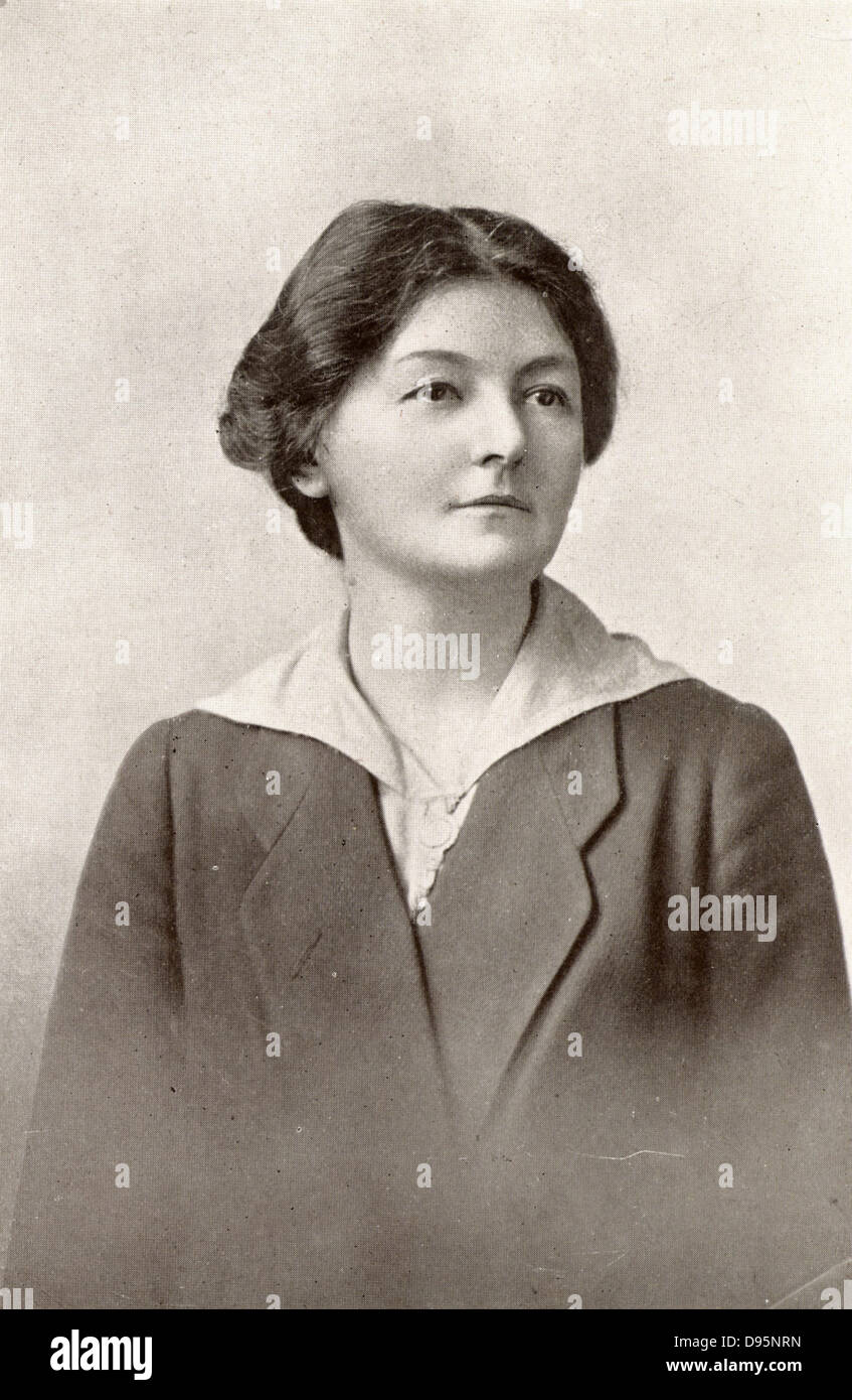Margaret Bondfield (1873-1953) English Labour politician. First British woman cabinet minister; chairman of the - Stock Image
