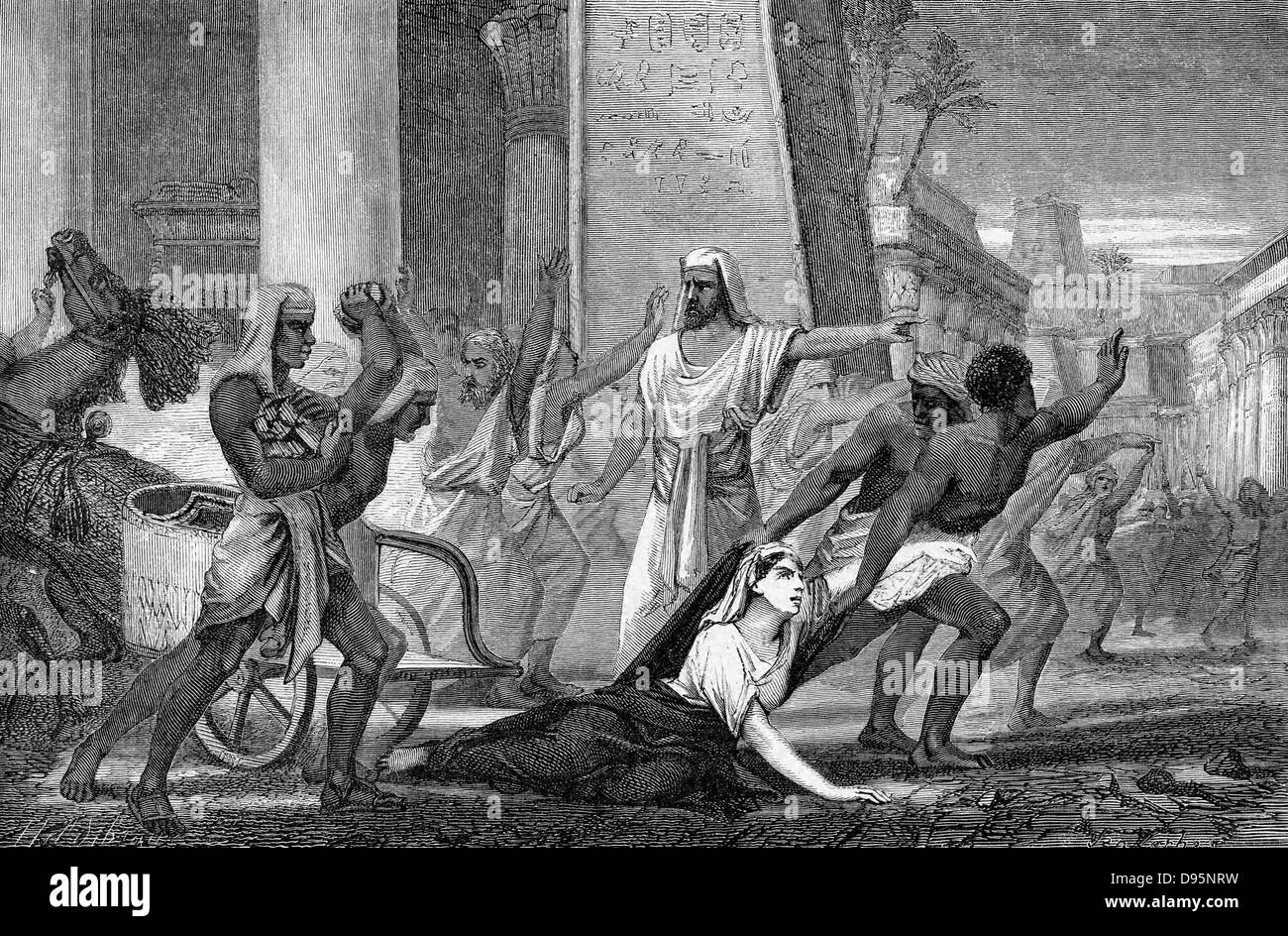 Hypatia (c370-415) mathematician and philosopher (Neoplatonist) murdered by followers of Cyril, Patriarch of Alexandria. - Stock Image