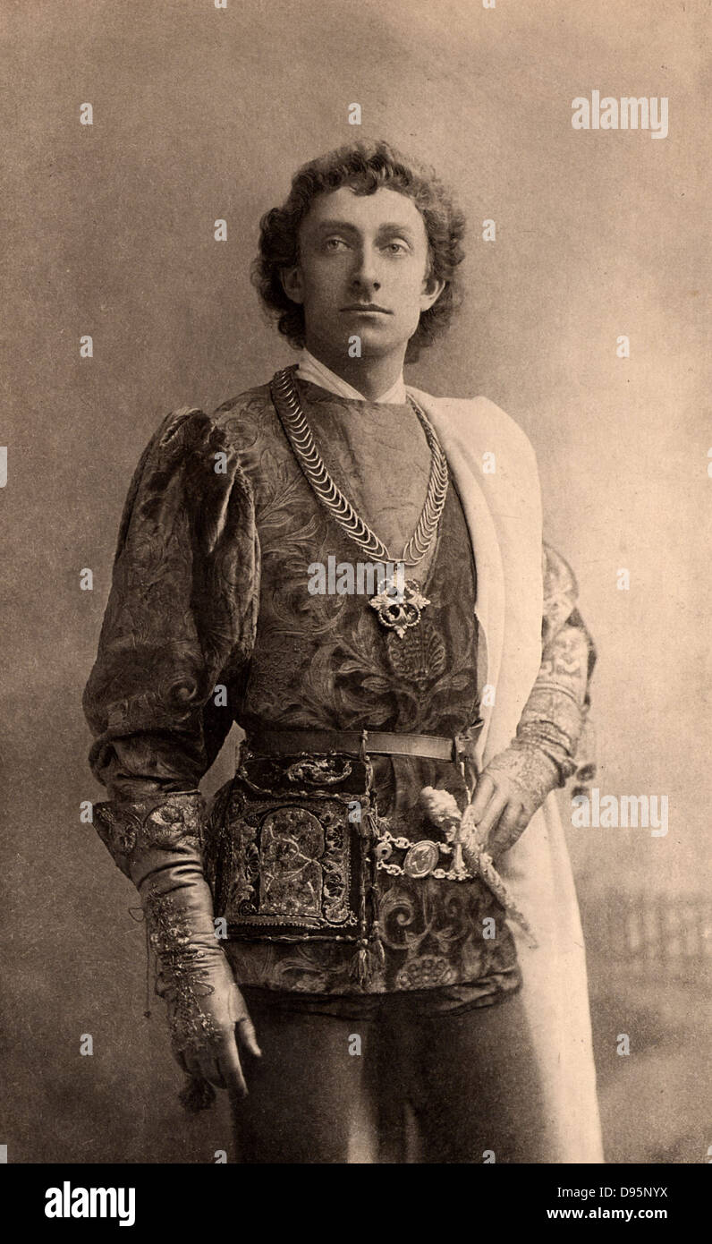 Johnson Forbes-Robertson (1853-1937) English actor-manager. Knighted in 1913. Here as Romeo in the tragedy  'Romeo - Stock Image