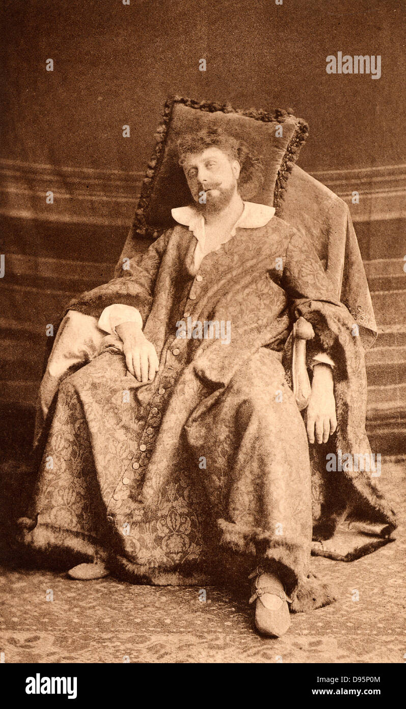 (George) Osmond Tearle (1852-1901) English actor-manager and fine Shakespearian actor. Here as the king in the history - Stock Image
