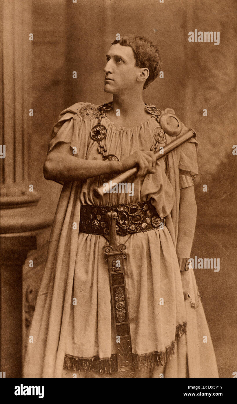 Frank Robert Benson (1858-1939) English actor-manager who specialised in Shakespearean roles.  Here as Theseus, - Stock Image