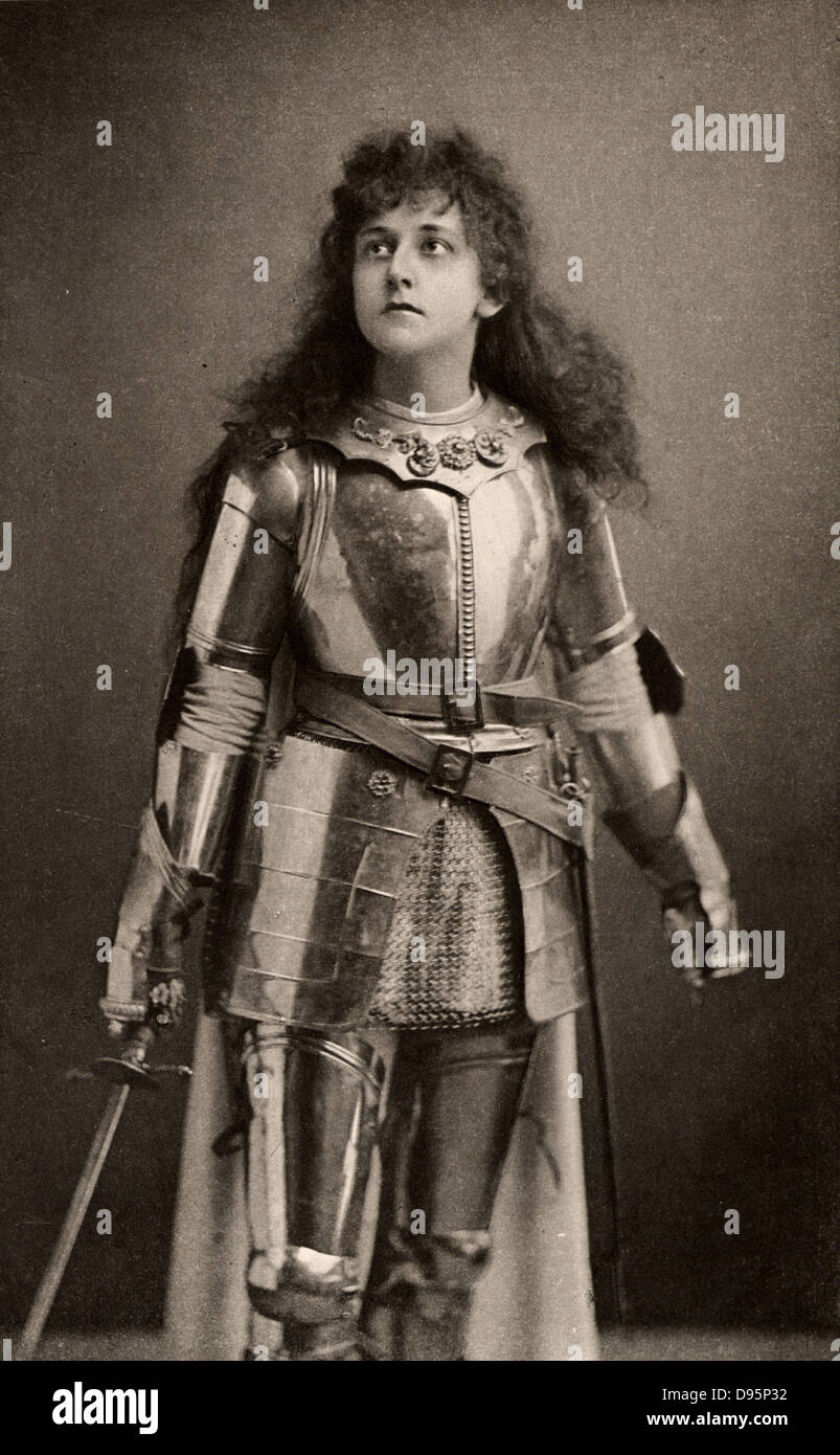 Mary Kingsley as Joan of Arc in the history play 'Henry IV' Part 1 by William Shakespeare. Alice Maud Mary - Stock Image