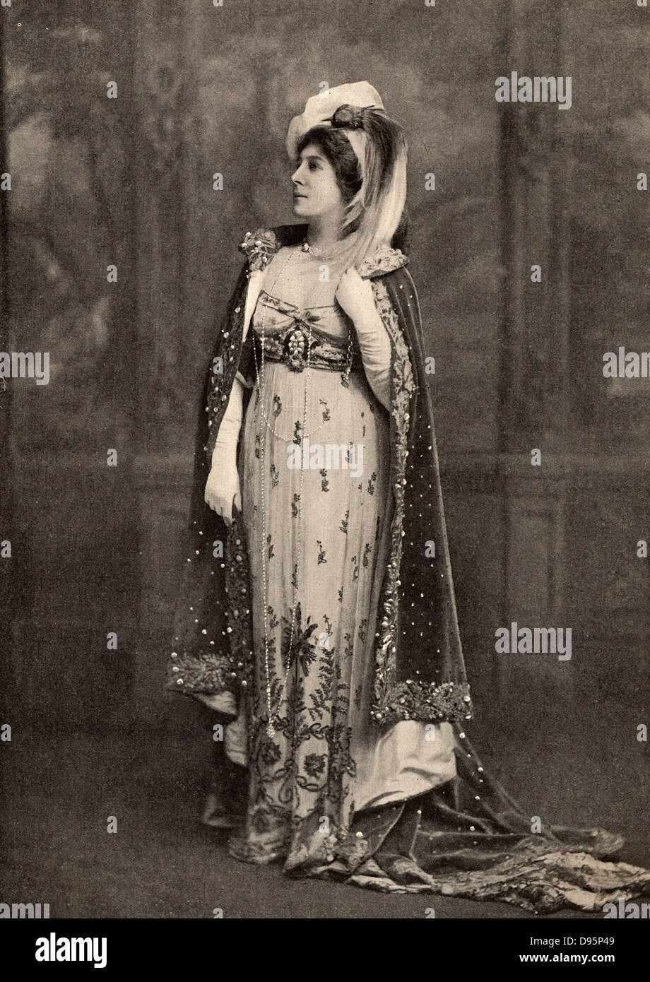Lillie Langtry (born Emilie Charlotte le Breton - 1853-1929) only daughter of the Dean of Jersey, she was called - Stock Image