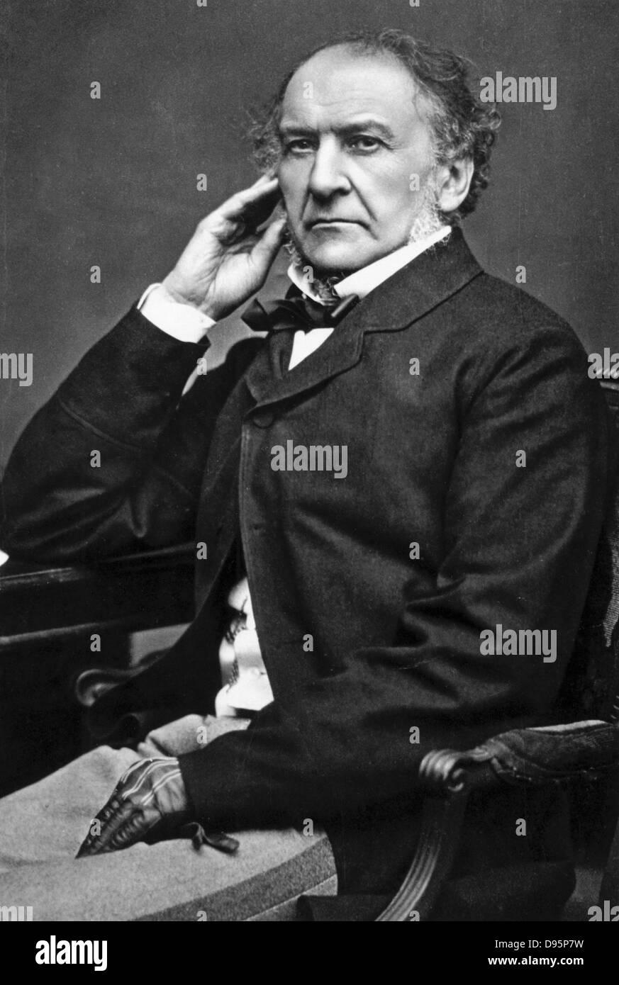 William Ewart Gladstone (1809-1898) British Liberal statesman. Photograph. - Stock Image